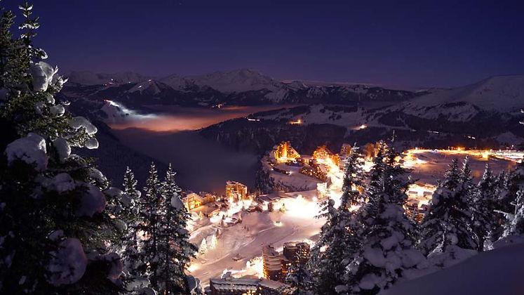 Avoriaz Ski Resort at night