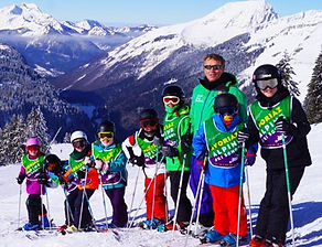 English speaking ski school for children