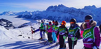 kids childrens ski snowboard lessons english british