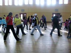 Zakiya Teaching Modern Dance