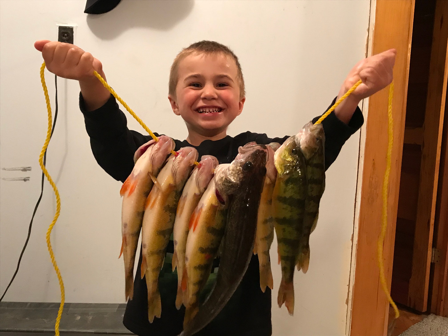 Owen and a nice perch Catch