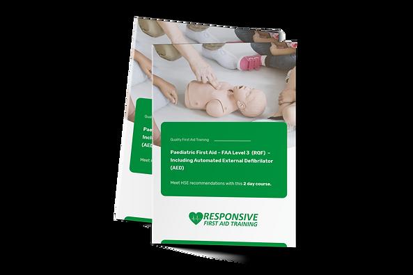 Paediatric First Aid – FAA Level 3  (RQF