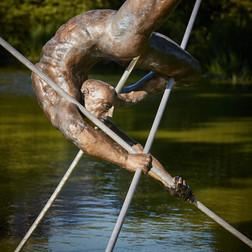 Jerzy Kędziora, Entangled I, balancing sculpture