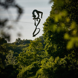 Jerzy Kędziora, Gymnast With Sash, balancing sculpture