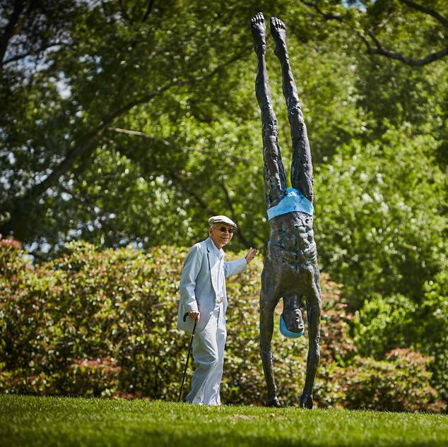 Jerzy Kędziora, Deep Plunge, balancing sculpture