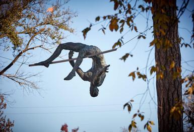 Jerzy Kędziora, Athlete: Over the Bar, balancing sculpture