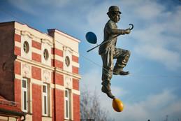 Gag z balonami - Charlie Chaplin
