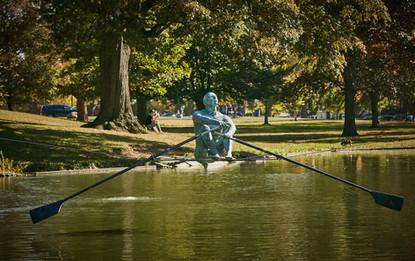 Jerzy Kędziora, Wioślarz, rzeźba balansująca