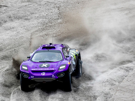 Extreme E: Cristina Gutierrez leads after combined quali Sessions, Taylor Rolls and carries on