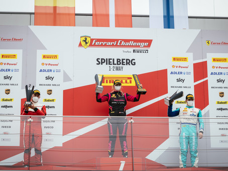 Michelle Gatting shines with two race wins in Ferrari Challenge Europe