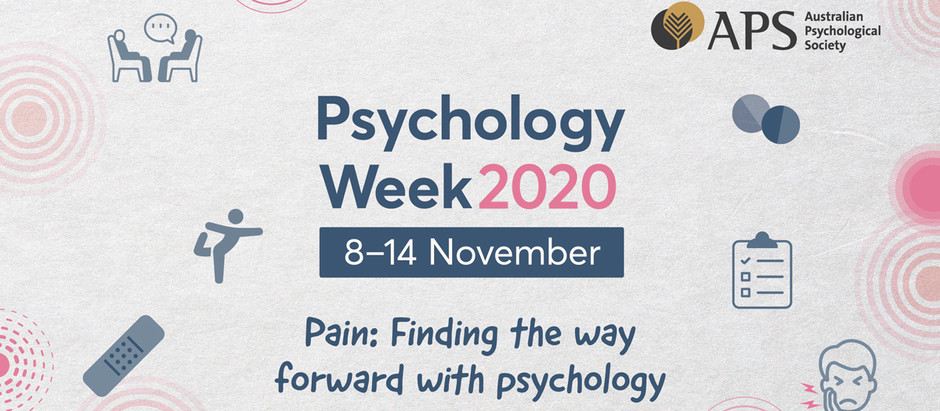 Psychology Week 2020: Chronic Pain in Adults