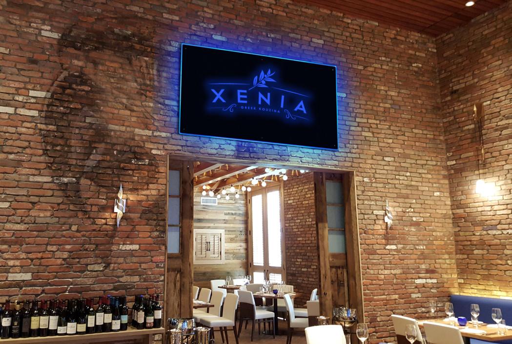 Restaurant sign-XENIA logo.jpg