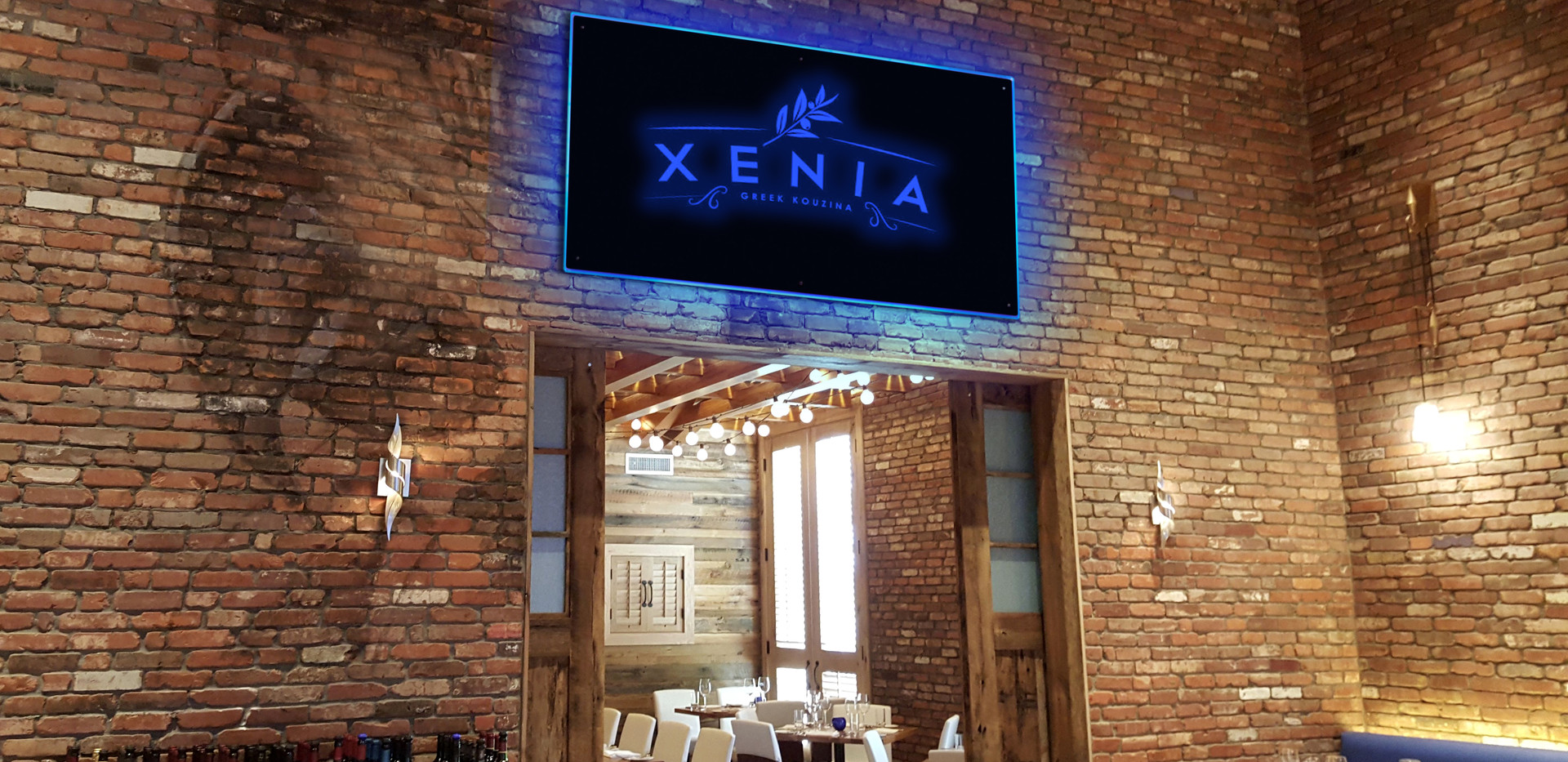 Restaurant sign-XENIA logo.jpg