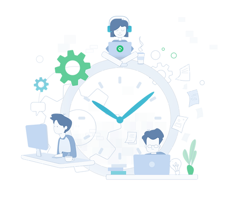 Gini-Apps Time illustration