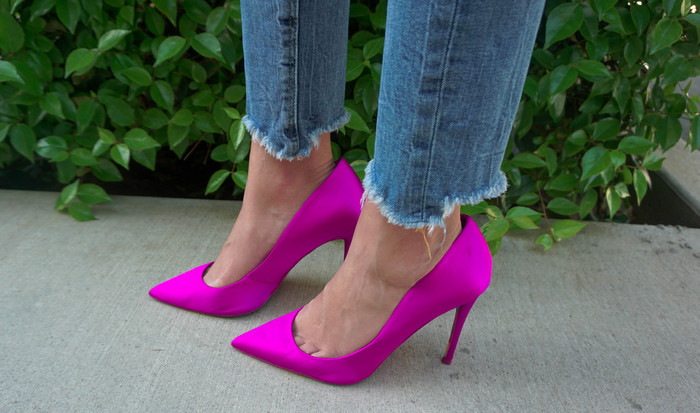 Hot Pink Satin Shoes
