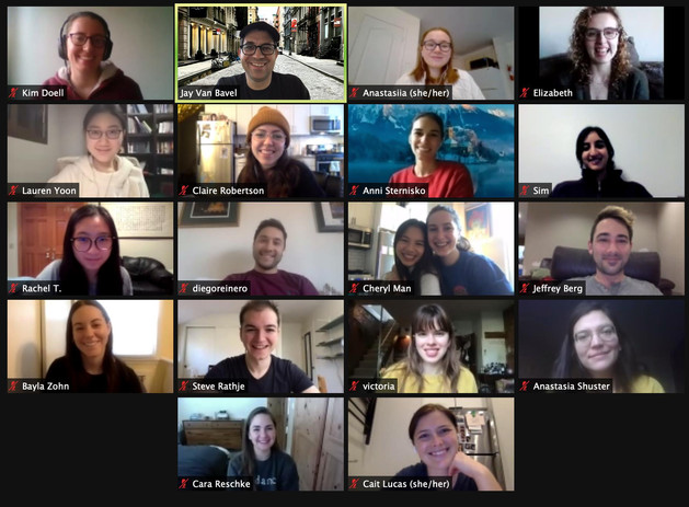 Our lab meetings during the pandemic has become truly global, with people calling in from at least 3 continents for this one.