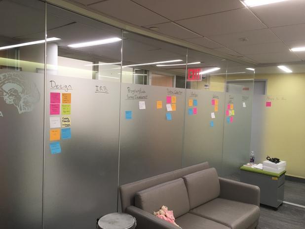 Where ideas flourish on sticky notes