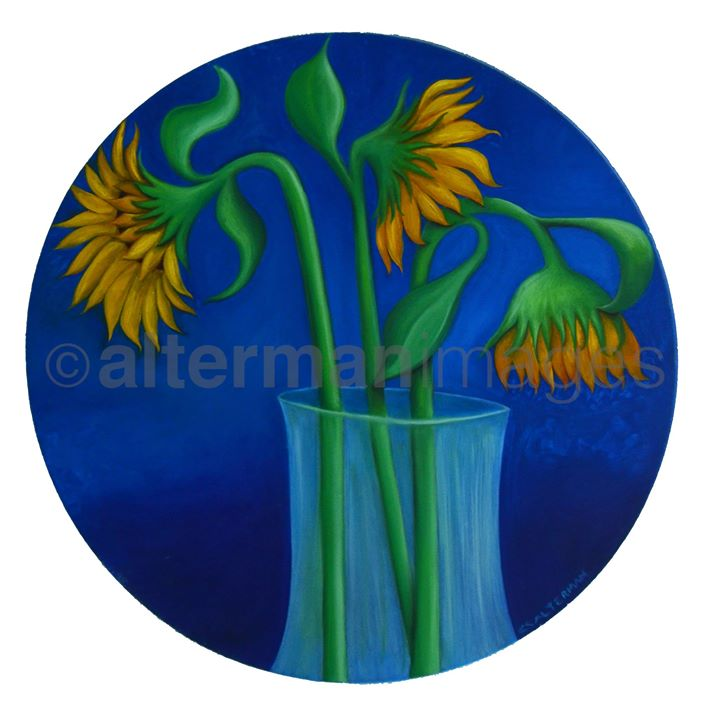 Sunflowers in the round
