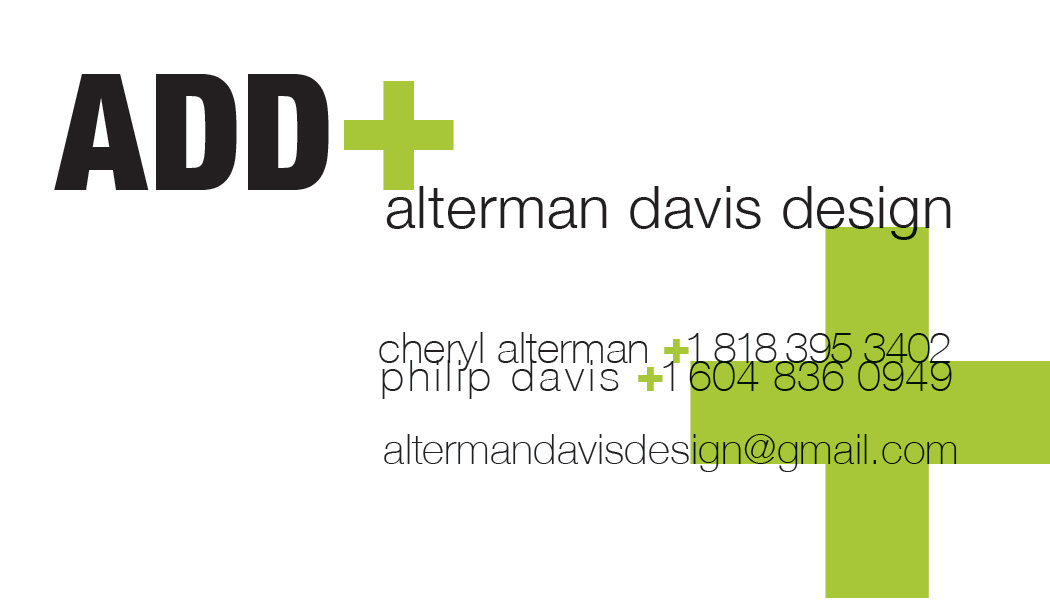 Alterman Davis Design biz card