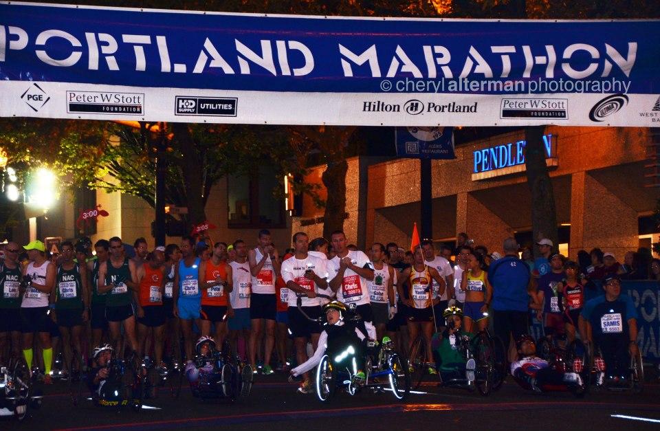 Portland Marathon starting line