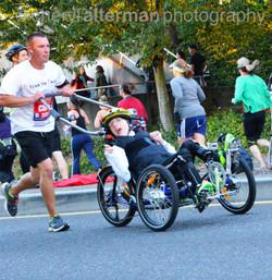 Portland Marathon (dad with son)