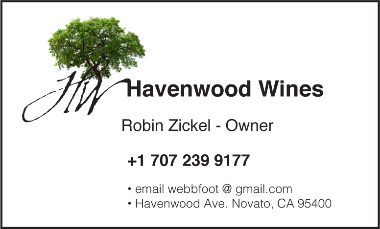 Havenwood Wines biz card