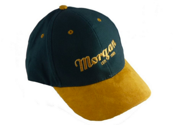 Morgan Baseball Cap - Green Tan Suede
