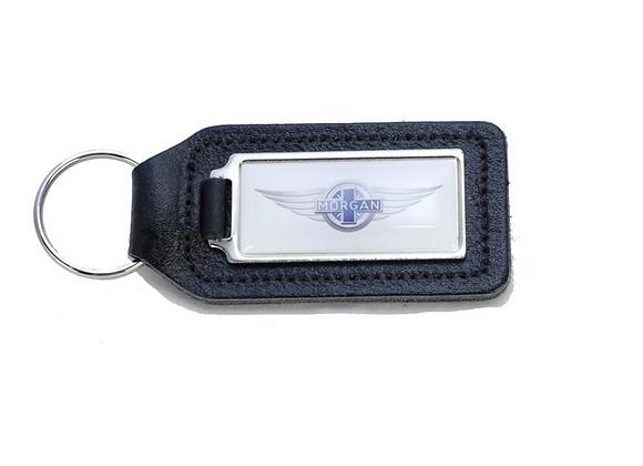 Key Fob - Black Leather - MW3 White