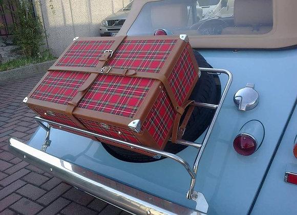 Custom Red Tartan Hard Suitcase - Ideal for Morgan