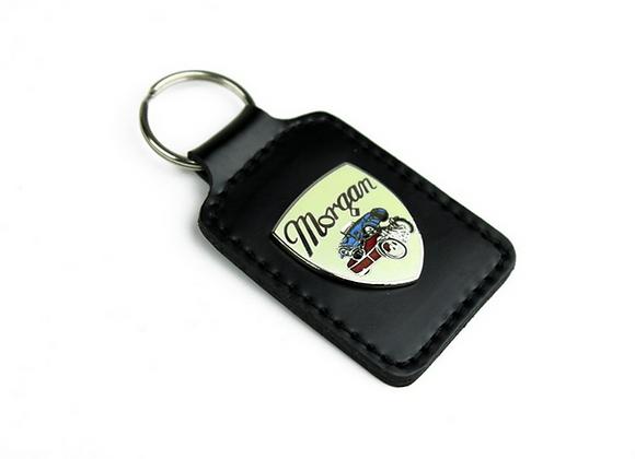 Leather Shield Key Fob