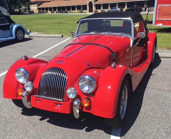 Red Morgan Roadster V6