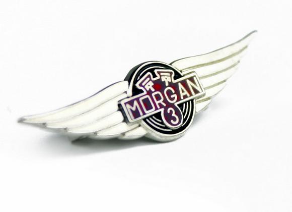 Morgan 3 Wheeler Lapel Badge
