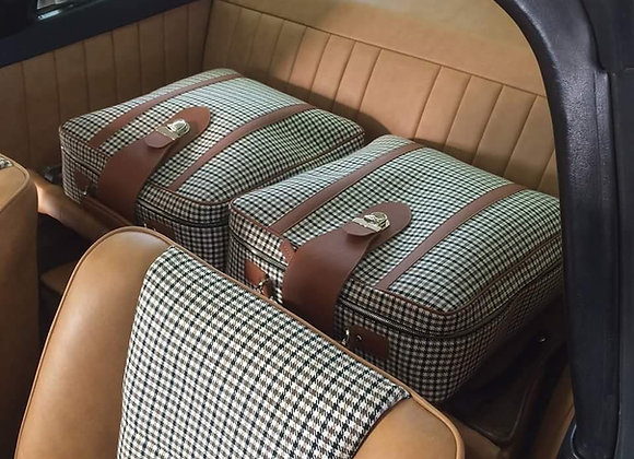 Houndstooth Check Porsche Luggage