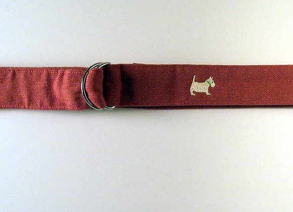 Nantucket Red Cotton D-Ring Belt