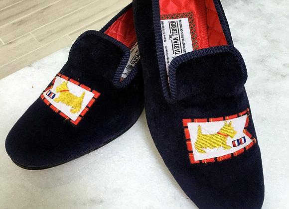 Handmade Tartan Terrier Slip-On Shoes