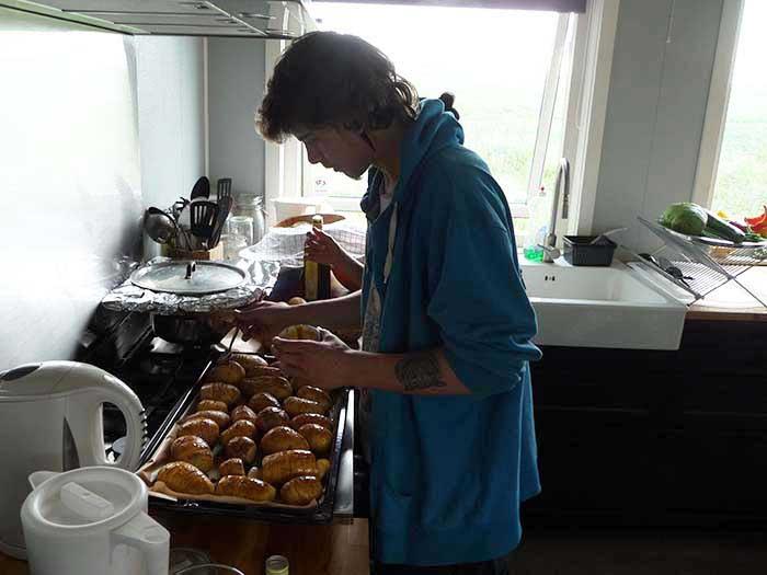 Eleverne laver mad