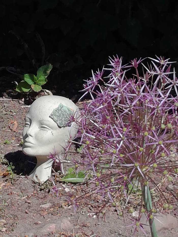 Kunst i blomsterbedet