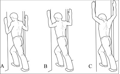 shoulder pain shoulder stretch back pain pectoral stretch