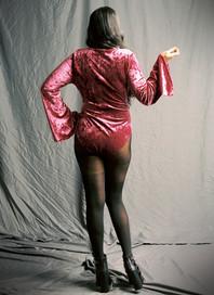 Red Vamped Bodysuit