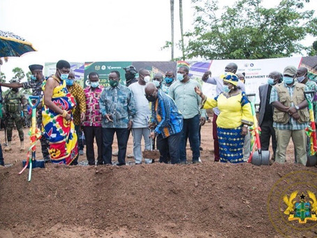 PRESIDENT NANA AKUFO-ADDO CUTS SOD  FOR €15 MILLION TECHIMAN INTEGRATED RECYCLING AND COMPOST PLANT