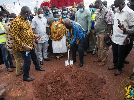 PRESIDENT AKUFO-ADDO CUTS SOD FOR NKORANZA SOUTH HOSPITAL; FUNDS SECURED FOR RECONSTRUCTION OF CENT