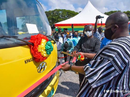 Govt Hands Over 100 Buses To Senior High Schools, 250 On The Way