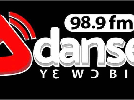 Adanse3 fm running test transmission on air