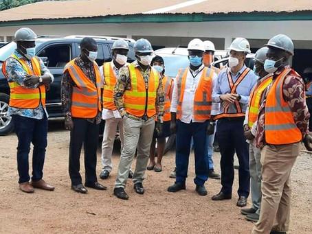 Regional Minister, Kumasi Mayor inspect project works  at KATH