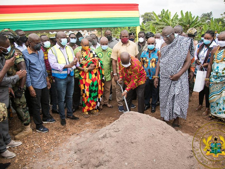 PRESIDENT AKUFO-ADDO CUTS SOD FOR PHASE III OF FIVE DISTRICTS WATER SUPPLY PROJECT IN VOLTA REGION