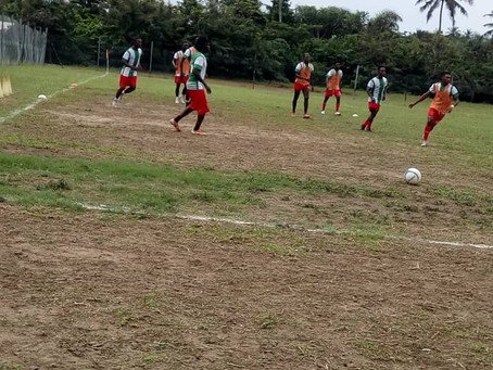 Breaking News: Pacific Heroes walk off the pitch  in Division One League game against Nzema Kotoko.