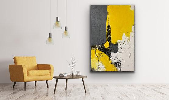 "Acrylbild Abstrakt auf Leinwand 110x170cm ""Abstrakt"""""
