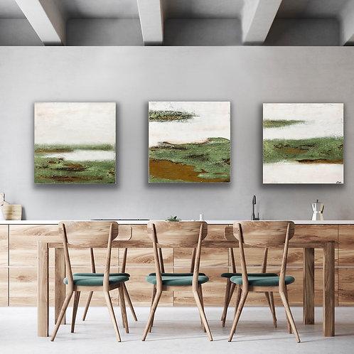 "Serie ""Landscape"" 180x60cm  (3 Tlg.) Abstrakt  by VICTORIA"