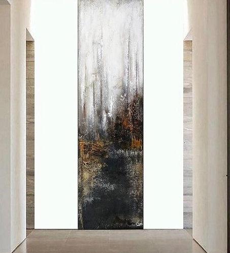 "Gemälde Mix Media ""THE ROCK I"" 95x270cm Abstrakt"
