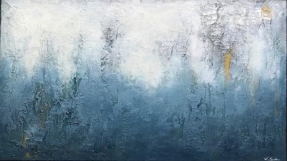 "Gemälde Mix Media Abstrakt, ""OUTBREAK II"" 120x80 cm, inklusive Versand"
